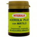 ACEROLA PLUS CON MIRTILO. INTEGRALIA. 40 comprimidos masticables.