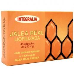 Jalea real liofilizada Integralia 45 cápsulas de 340 mg.