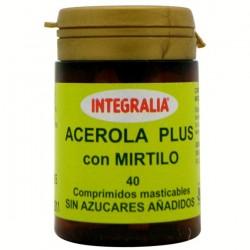 Acerola Plus Amb Mirtil Integralia 40 comprimits mastegables