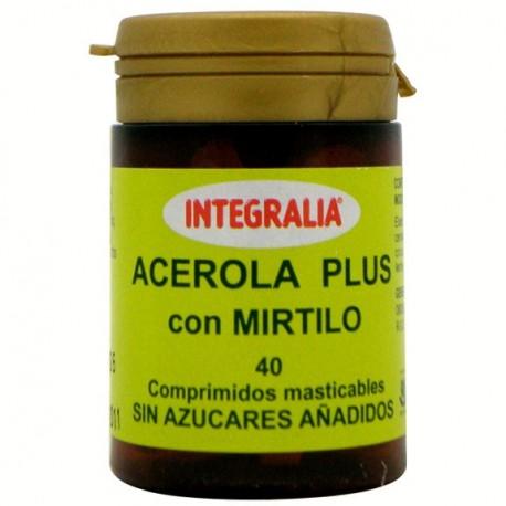 ATZEROLA PLUS AMB MIRTIL. INTEGRALIA. 40 comprimits mastegables.