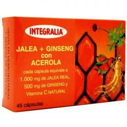 Jalea Real + Ginseng Con Acerola Integralia 45 cápsulas
