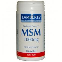 Msm 1000 mg. Lamberts 120 comprimidos