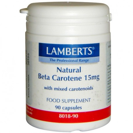 BETA CAROTENO NATURAL 15 MG. LAMBERTS. 90 cápsulas.