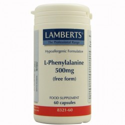 L-Fenilalanina 500 mg. Lamberts 60 cápsulas