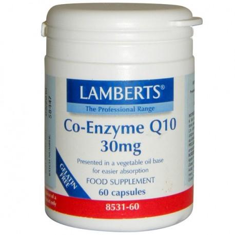 CO-ENZYME Q10 30 MG. LAMBERTS. 60 cápsulas.