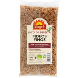 FIDEOS FINOS DE ESPELTA. BIOGRÁ - SORRIBAS. 250 g.