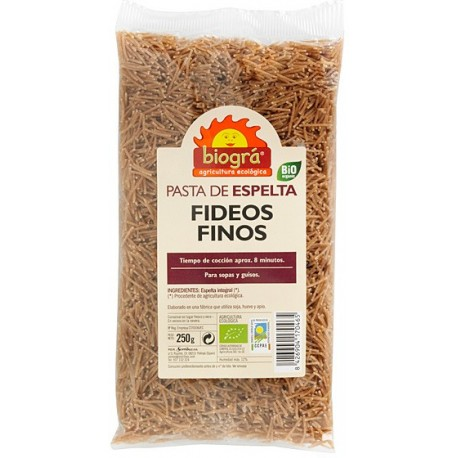 FIDEUS FINS D'ESPELTA BIOGRÀ - SORRIBAS. 250 g.