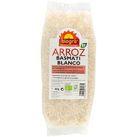 ARRÒS BASMATI BLANC BIOGRÀ - SORRIBAS 500 g.