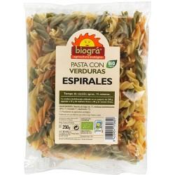 Espirals Pasta Amb Verdures Bio Biográ - Sorribas 250 g.