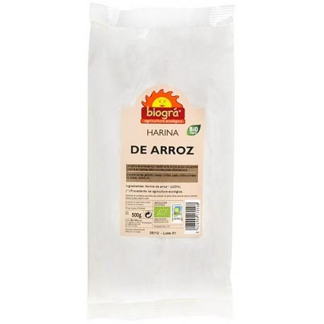 HARINA DE ARROZ BIOGRÁ - SORRIBAS. 500 g.