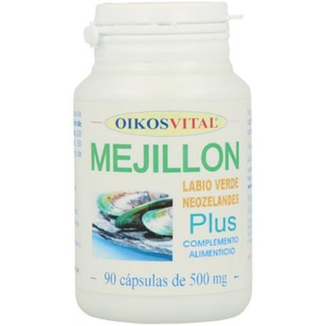 MEJILLON LABIO VERDE NEOZELANDES OIKOS VITAL 90 cápsulas de 500 mg.