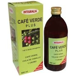 Café Verde Plus Jarabe Integralia 500 ml.