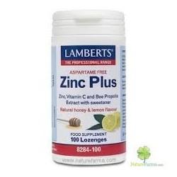 Zinc Plus Lamberts 100 pastillas masticables