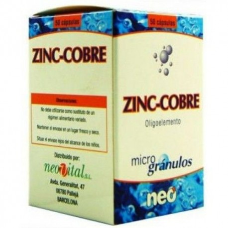 ZINC-COBRE NEO 50 cápsulas