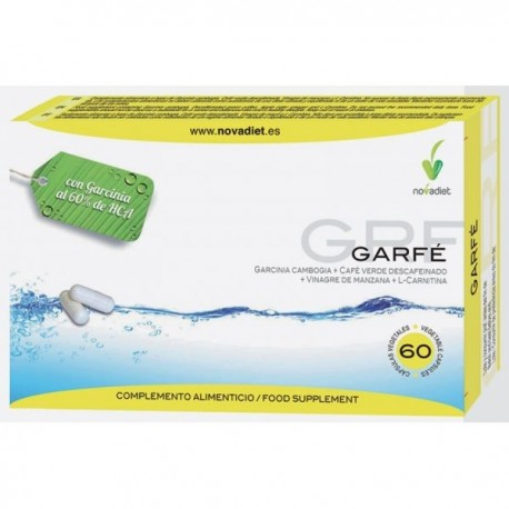 GARFÉ Garcinina cambogia + café verde descafeinado + vinagre de manzana + L - Carnitina NOVADIET 60 Cápsulas