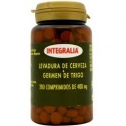 LEVADURA DE CERVEZA + GERMEN DE TRIGO INTEGRALIA 280 comprimidos de 400 mg