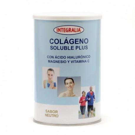 COLÁGENO SOLUBLE PLUS CON ÁCIDO HIALURÓNICO MAGNESIO Y VITAMINA C SABOR VAINILLA INTEGRALIA 360 g.