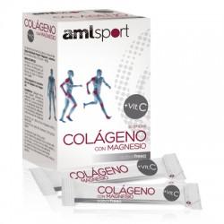 Amlsport Colágeno con Magnesio + Vitamina C sabor fresa Ana Maria Lajusticia 20 sticks