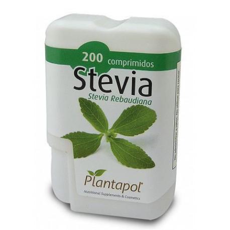 STEVIA PLANTAPOL 200 comprimits de 40 mg. Pes net 12 g.