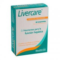 Livercare Nutrients per a la funció hepàtica Health Aid 60 comprimits