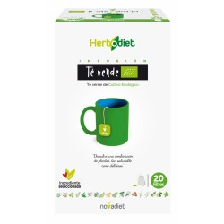 Te Verde Herbodiet Novadiet 20 bolsitas filtros infusión