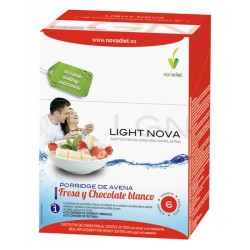 Light Nova Porridge De Avena Fresa y Chocolate Blanco Novadiet 6 sobres