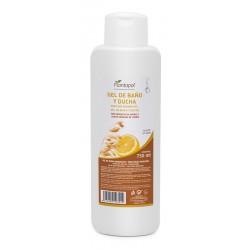 Gel de baño y ducha con extracto de avena y aceite esencial de limón Plantapol 750 ml.