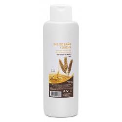 Gel de bany i dutxa amb germen de blat i mel Plantapol 750 ml.