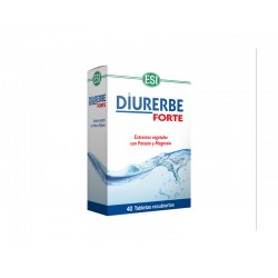 Diurerbe Forte Extractos vegetales con Potasio y Magnesio Esi - Trepat Diet 40 tabletas recubiertas