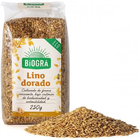 LINO DORADO SEMILLAS BIO BIOGRÁ - SORRIBAS 250 g.