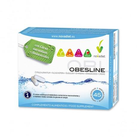 OBESLINE. Citrus aurantium + aminoácidos. NOVA DIET. 45 cápsulas.